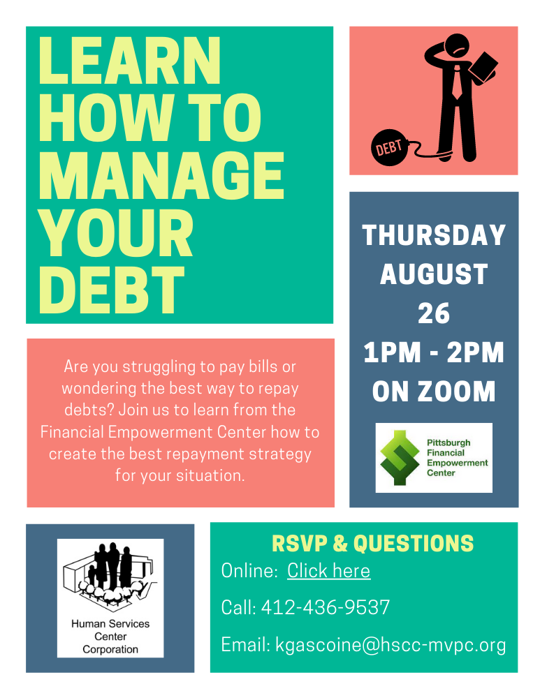 Webinar information. Learn to manage your debt.